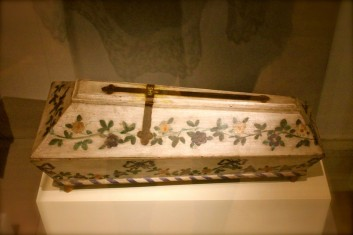 A decorated coffin for a newborn child - Prague Ethnographic Museum