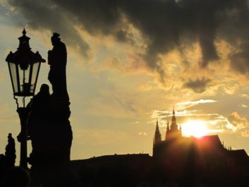 Prague solstice over the Castle