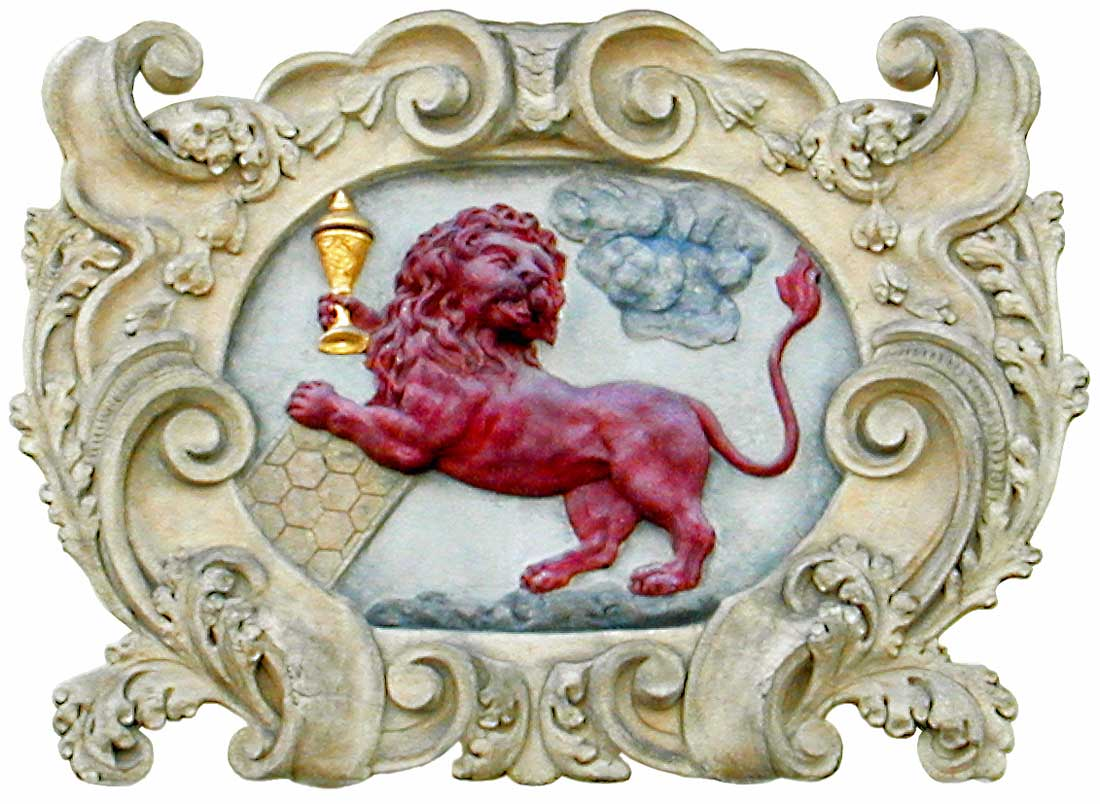 Red Lion door sign in Prague