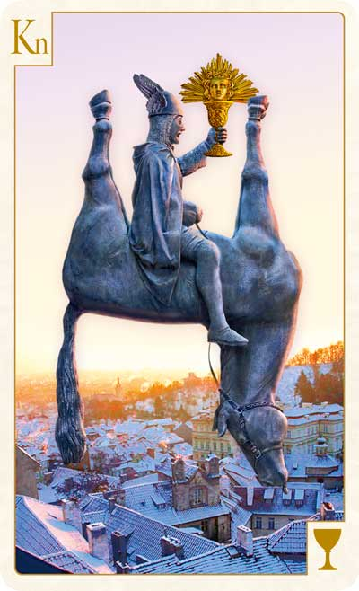 The Tarot of Prague Knight of Cups