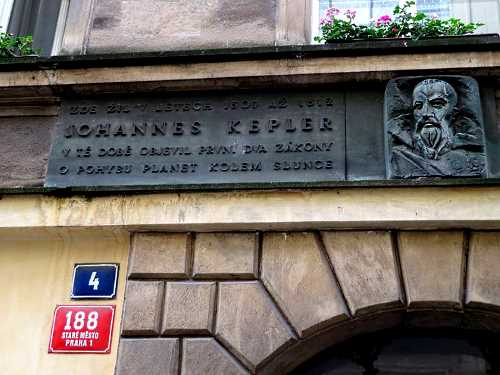 Kepler's home in Prague