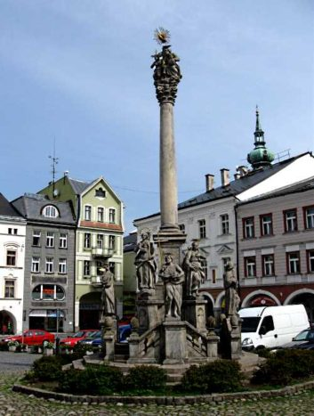 Trinity column in Trutnov