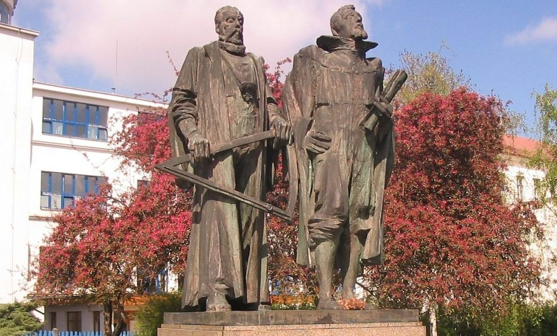 Statue of Kepler and Brahe, Prague