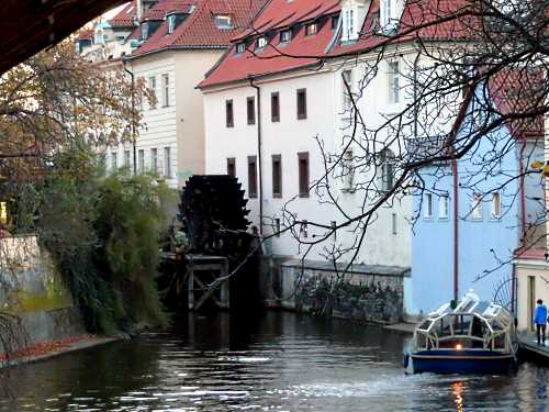 Čertovka stream in Prague