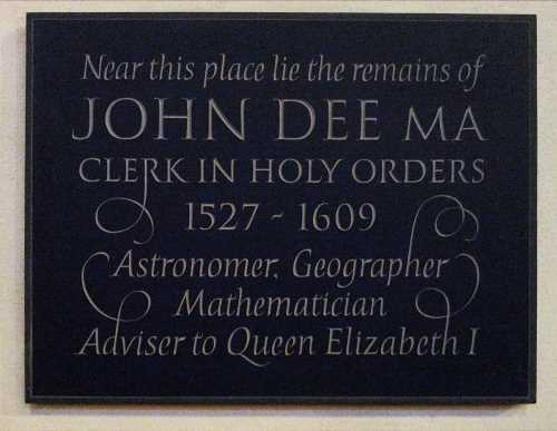 Sign for John Dee